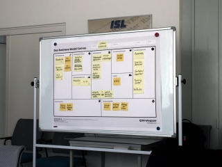 Business Model Canvas für einen Demonstrator